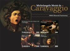 Liberia - 2010 - CARAVAGGIO 400TH MEMORIAL ANNIVERSARY - Sheet of 4 Stamps - MNH
