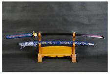 Modern Futuristic Blue Dragon Folded Steel Battle Ready Samurai Katana Sword