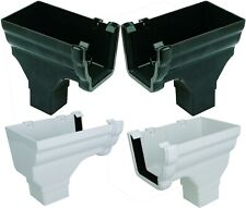 Floplast Niagara Ogee Gutter Stopend Outlet 110mm RON2 & RON3 Black & white