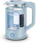 Dezin Electric Tea Kettle w/ Bicolor LED & Keep Warm Function 1.5L Double Wall  photo