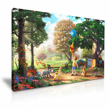 WINNIE THE POOH DISNEY CARTOON CANVAS WALL ART PICTURE PRINT 76x50cm