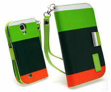 Samsung Galaxy S5 Case Cover Protective Mix Match Wallet Leather Stand Case