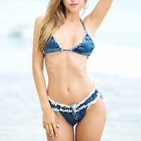 Blue Jeans Denim Shorts Lady Club Summer Beach G-string Mini Hot Pants Thong