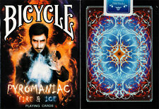 PYROMANIAC FIRE & ICE BICYCLE DECK LIMITED ED. PLAYING CARDS USPCC MAGIC TRICKS