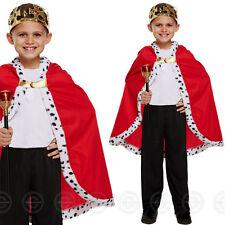 BOYS KING CAPE FANCY DRESS COSTUME ROYAL MEDIEVAL ROBE CLOAK CHILDS GIRLS BOY