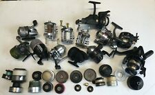 13 Vintage Fishing Reels For Parts Or Repair Plus A Bunch Of Spools N Other Item
