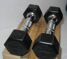 3-POUND DUMBBELLS Set of 2 Rubber Hex Weight Training Exercise NEW Free shipping
