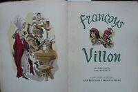 """CURIOSA  - """" F.VILLON """" - Oeuvres Complètes - 40 illutrations de VAN ROMPAEY"""