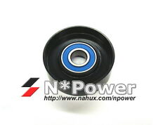 FLAT STEEL DRIVE BELT TENSIONER PULLEY FOR JAGUAR S TYPE 2.5 AJ25 X TYPE 3.0 AJ