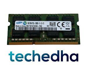 Samsung 8GB DDR3 PC3L-12800S Laptop RAM Memory SODIMM M471B1G73EB0-YK0