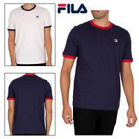 Fila Mens Classic Vintage Marconi Pure Cotton Half Sleeve Ringer Sports T Shirt