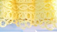 $398 New Lilly Pulitzer FOLEY DRESS Starfruit Yellow Battenburg Lace S or M NWT