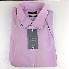 Men's John Lewis Shirt 18 Neck Lilac, Tailored fit, BNWT, Single Cuff RRP £39