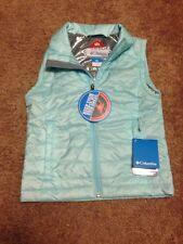 NWT Columbia Girls Omni- Heat Crested Butte Puff Vest Powder Blue  Sz: 6 (XS)