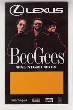 BEE GEES 1999 UNUSED SOLE AUSTRALIAN CONCERT LAMINATED BACKSTAGE PASS