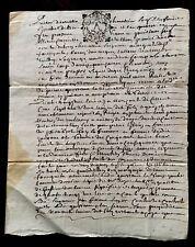 Original Letter Manuscript 1718