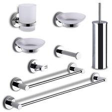 Kit accessori bagno 8 pezzi gedy Felce metallo cromo fissaggio senza fori nuovo