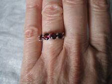 Rhodolite Garnet ring, 1.74 carats, size L/M, 2.16 grams of 925 Sterling Silver