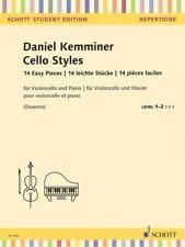 Cello Styles 14 Easy Pieces Cello and Piano String Solo Book NEW 049045923