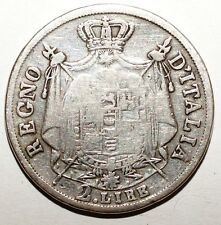 2 Lira Italia Napoleón I plata 1810 M (W 070)