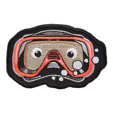 Peek-A-Boo Diver Mask Patch, Scuba Diving Caricature Patches