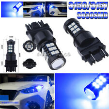 2x Blue Projector LED Daytime Running Light Bulbs 30-3030SMD 3156 3157 3757 4157