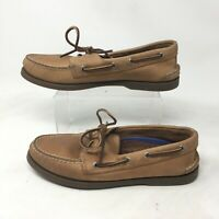 Sperry Top Sider Authentic Original Boat Shoes 8.5M Mens Leather Brown 0197640