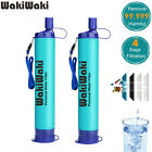 2 Pack Personal Water Filter Straw Purifier Survival Camping Emergency Gear Tool