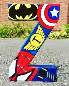 Choose Your Superheroes. letter Boys Batman spiderman Marvel Avengers End Game