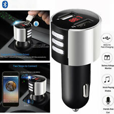 Handsfree Wireless Bluetooth Car Kit FM-Transmitter Radio MP3-Player USB Charger