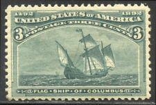 U.S. #232 Mint BEAUTY - 1893 3c Columbian
