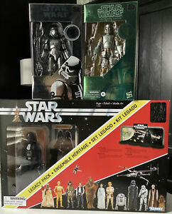 Star Wars Darth Vader Black Series 40th Anniversary Collection 6 inch Lot of 3