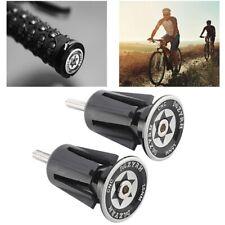 1 Pair Bike Bicycle Aluminum Handlebar Grips Hat Plug Handle Bar Hat End Plugs