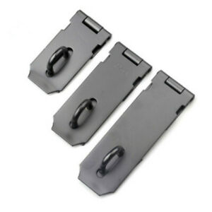 Hasp and Staple Door Padlock Solid Lock Latch Catch Hutch Coop Cabinet Shed Gate