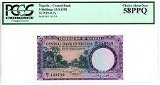 Nigeria ... P-2a ... 5 Shillings ... 1958 ... *AU-UNC* ... PCGS 58 PPQ
