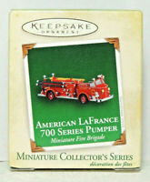 Hallmark 2005 Miniature Ornament American LaFrance 700 Series Pumper Fire Engine
