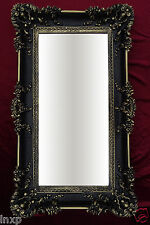 Miroir mural Rectangulaire Noir Or Dual BAROQUE DÉCORATION Antique 96x57 cm