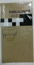 "Table Covers 54"" x 108"" Plastic Tablecloth Table Clothes - Pick Your Color - NEW"