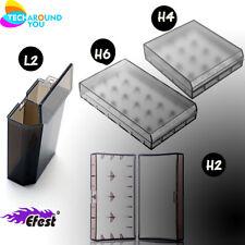 1-10 fest L2 H2 H4 H6 Clear White 18650 18350 Flat Top Battery Case holder