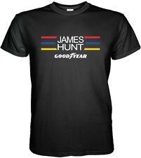 JAMES HUNT TShirt Formula 1 Racing Car Driver Legend 70's Champion The Shunt