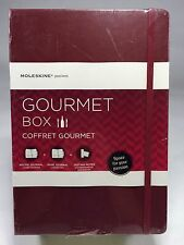 NEW Moleskine Gourmet Box, Wine & Recipe Journal, Tasting Notes,  Burgundy 69.99