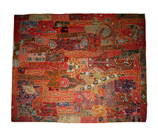 Indian Wall Hanging Fine Zari Patchwork Round Hippie Tapestry Ethnic Bohemian