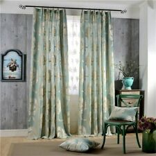 Damask Flocked Jacquard Curtains Living Room Drapes Shiny Velvet Bedroom Window