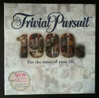 Trivial Pursuit 1980's Edition Board Game - Parker, 100% Complete, Very Good