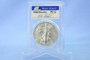 USA 1 Dollar 2014 W  American Eagle First Strike Miles Standish PCGS  MS 70