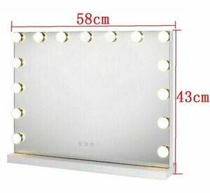 Hollywood Tabletop Beleuchtete Schminkspiegel mit 15 LED-Lampen dimmbaren 3 Modi