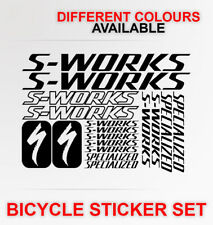 S-WORKS BIKE FRAME STICKERS DECALS SHEET BICYCLE CYCLING S WORKS