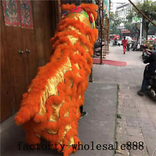 88'' Chinese Folk art Lion Dance mascot Costume wool Southern Lion just cloak