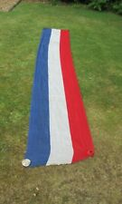 Vintage British union jack colours red white blue long flag bunting swag