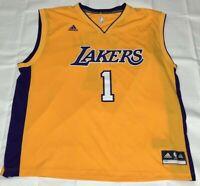 663e11b6 adidas Men's D'Angelo Russell Los Angeles Lakers Swingman Jersey ...